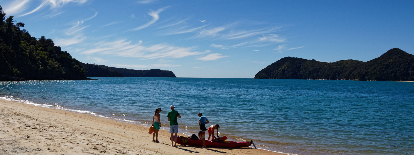 Explore the Abel Tasman by sea kayak, take a water taxi or scenic cruise and discover its  breath- taking wild beauty